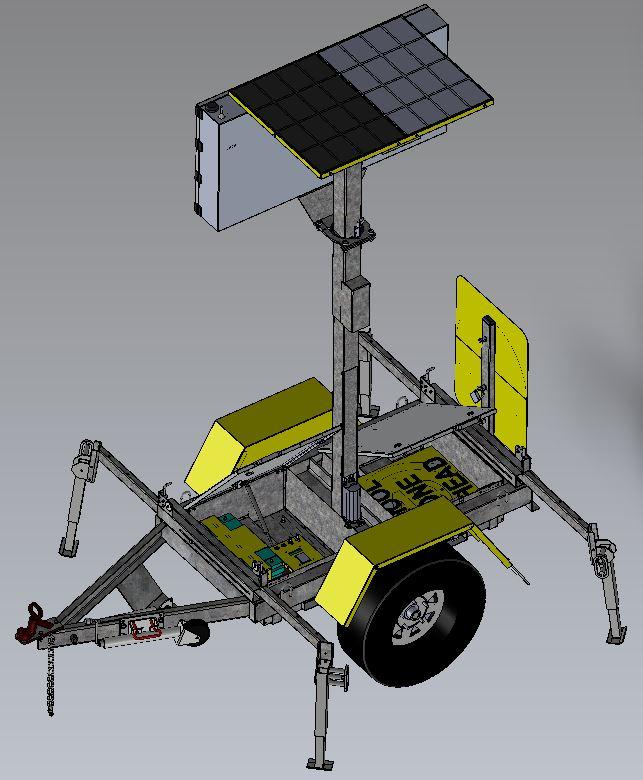 Transportable Radar Speed<br/> Displays-SAM Trailer