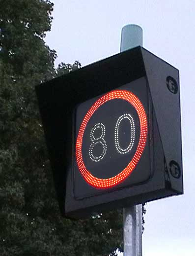 Electronic Speed Limit Signs<br/>(Freeway Type)