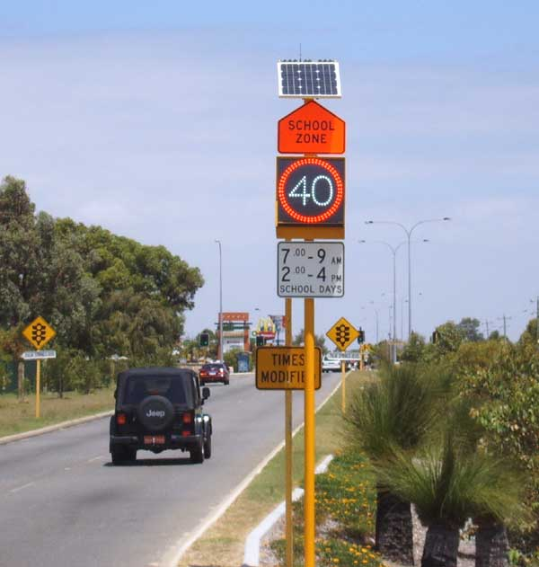 A.D. Engineering International is DownerMouchel and Main Roads WA supplier of choice for variable speed limit signs for school zones