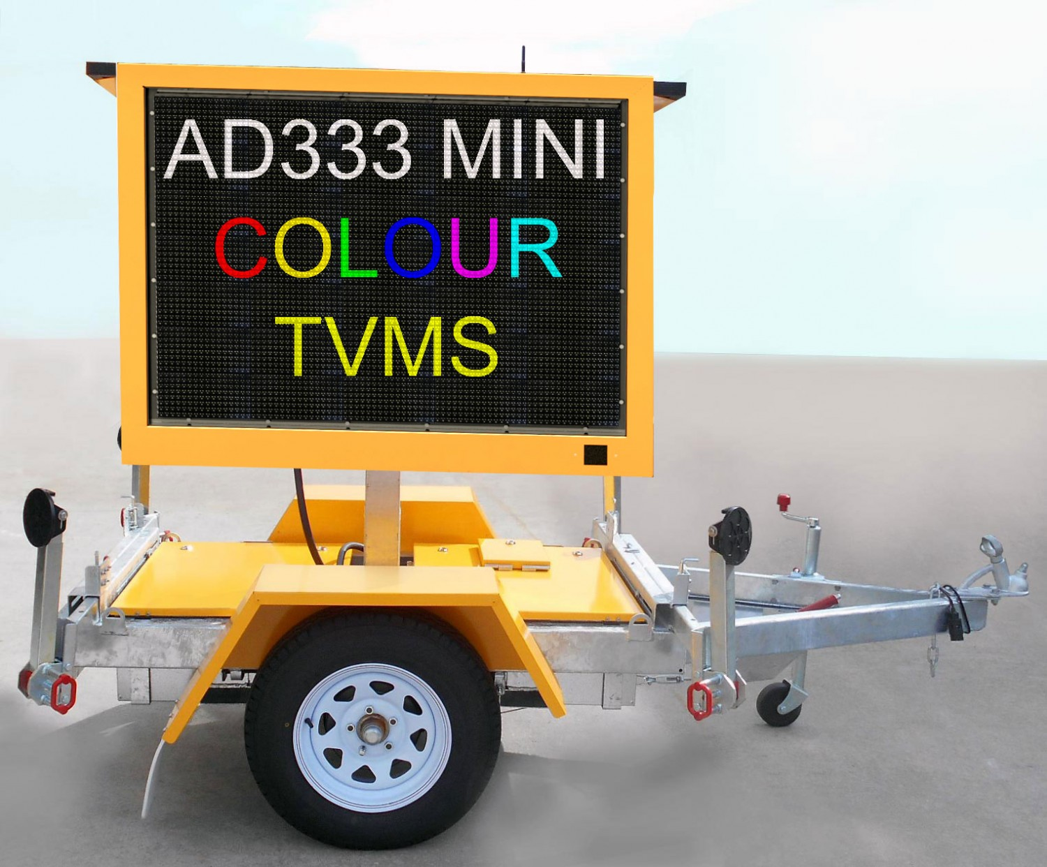 Mini Full Color Transportable LED<br/> Signs /  VMS Trailers