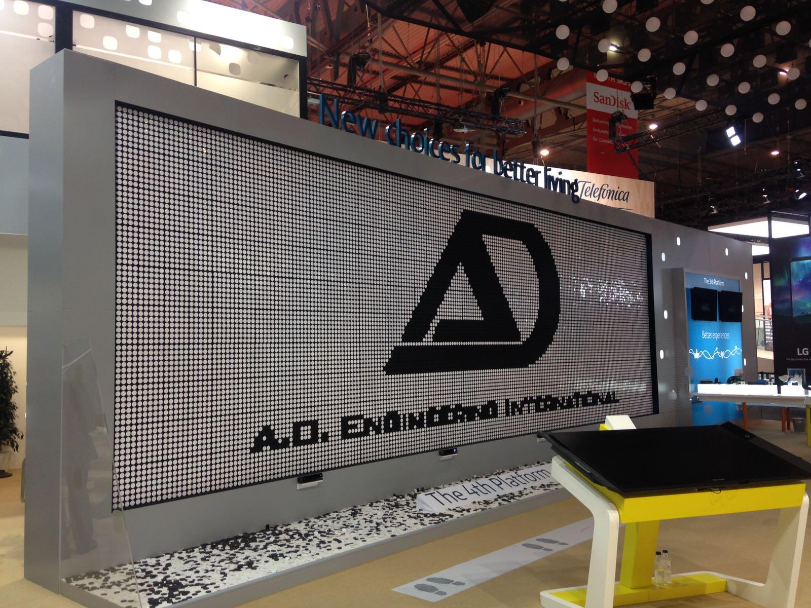 AD Engineering Installs large Flip-Dot sign in Barcelona, Spain